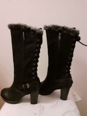 Tamaris Heel Boots black leather
