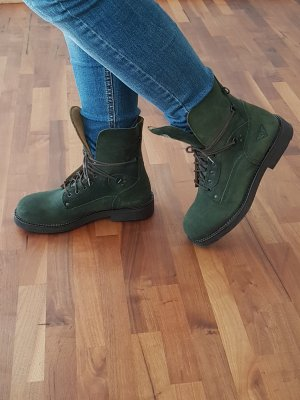 Short Boots dark green