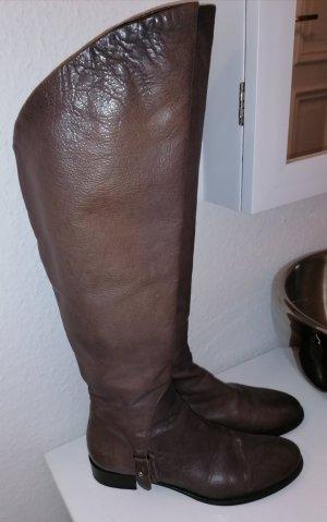 Vero Cuoio Buty nad kolano szaro-brązowy-jasnobrązowy