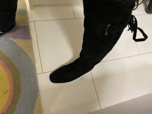 Stiefel echtes Wildleder neu schwarz