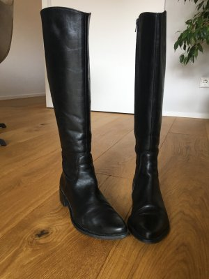 Bianco Jackboots black leather