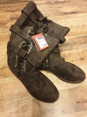 keine Futrzane buty brązowy