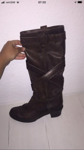 aus Italien Heel Boots dark brown