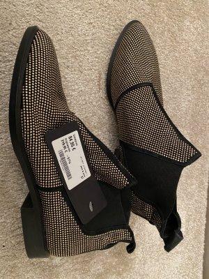 Janet & Janet Korte laarzen zwart-zilver