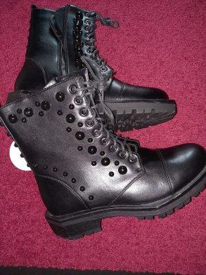 SassyClassy Lace-up Boots black