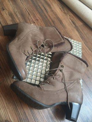 Borceguíes marrón grisáceo Cuero