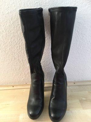 Graceland Wysokie buty na obcasie czarny