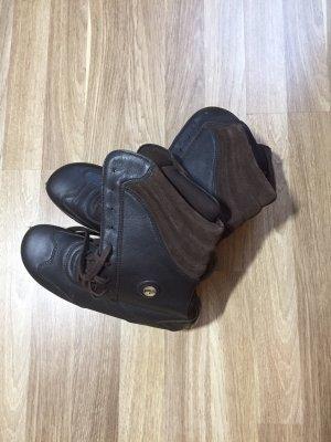 Footprints Stivale stringato marrone scuro