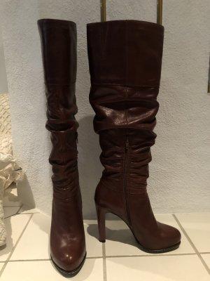 Formentini Platform Boots cognac-coloured