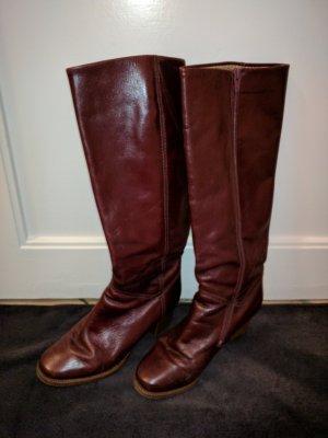 Stiefel Gabor Bordeauxrot Leder Größe: 39 Absatz 5 cm