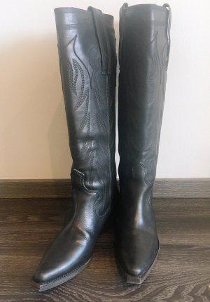Givenchy Botas estilo vaquero negro Cuero