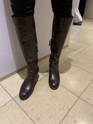 Stiefel - Glattleder - braun