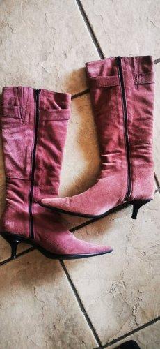 Stiefel Görtz rosa spitz 38 neu Wild Leder