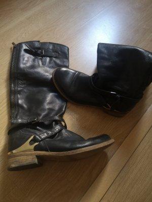 Stiefel gold schwarz 37 Görtz