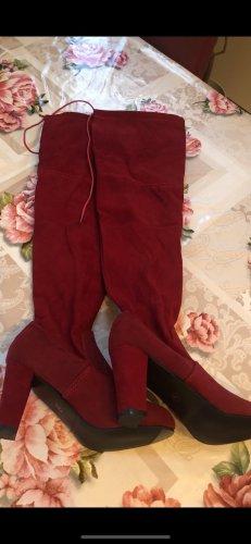 Overknees dark red