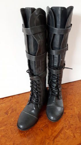 Slouch Booties slate-gray