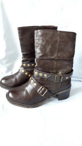 Claudia Ghazzani Short Boots dark brown