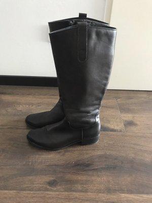 Zanon & Zago Wide Calf Boots dark brown