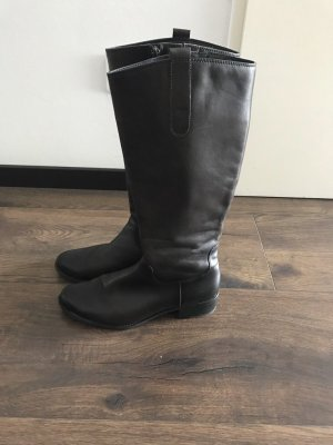 Zanon & Zago Wide Calf Boots dark brown