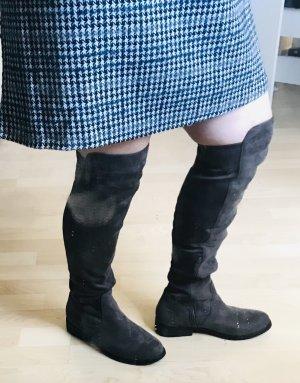 Unbekannte Marke Buty nad kolano antracyt-ciemnoszary