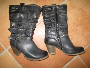 Dockers Boots western gris-gris foncé faux cuir