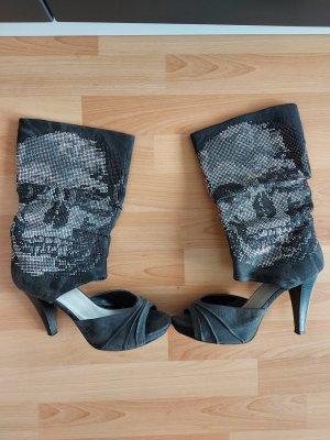 Stiefel grau mit glitzer Design