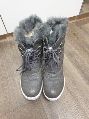 Polar Patucos con cordones gris claro