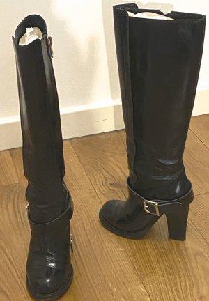 Chloé Stivale con tacco alto nero Pelle