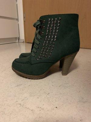 Bottes à lacets kaki-vert foncé
