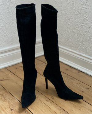 Les Tropéziennes High Heel Boots black leather
