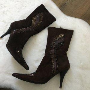 Stiefel Halbschuhe Schuhe  Leder/Wildleder exclusive Absatz-Stiefel für besondere Anlässe