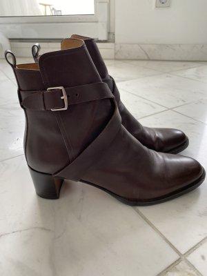 Hermès Slip-on Booties silver-colored-dark brown