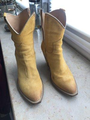 Western Boots gold orange