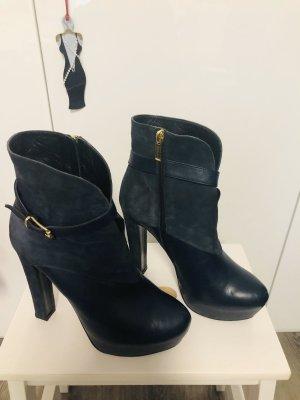 Fersengold Halfhoge laarzen donkerblauw-goud