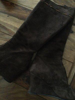 Stiefel in Leder (wild) braun von Tema Handarbeit
