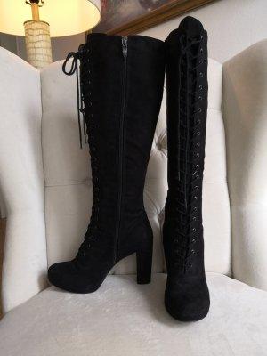Stiefel in schwarz mit bequemer Touch in Sohle