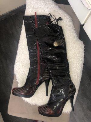 High Heel Boots black-bordeaux