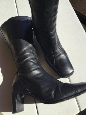 Piu Jackboots black leather