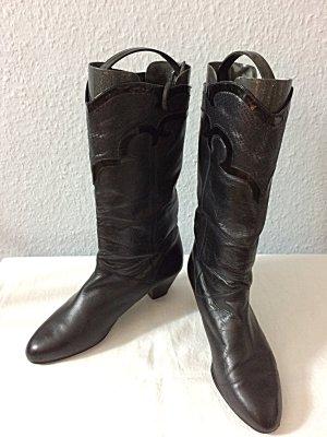 Vintage Bottes à l'écuyère noir cuir