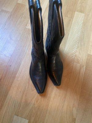 Rancho Biker Boots black leather