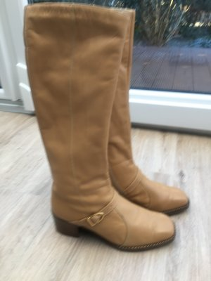Winter Boots beige leather