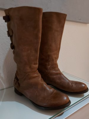 Divine Follie Wide Calf Boots brown