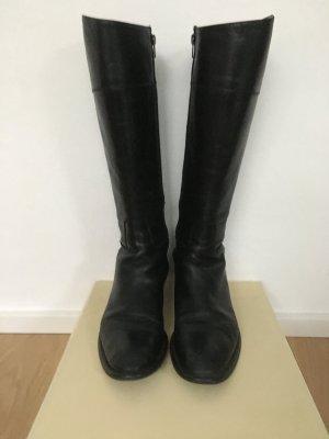 Stiefel Made in Italy aus schwarzem Leder