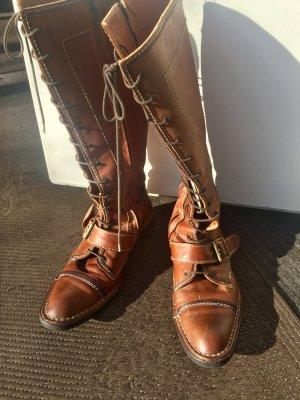 Aanrijg laarzen brons