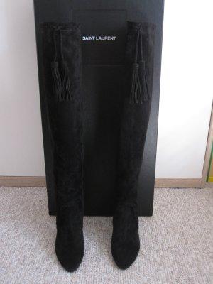 Stiefel Meurice 105 aus Veloursleder Saint Laurent