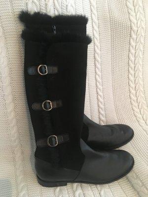 Botas de piel negro Cuero