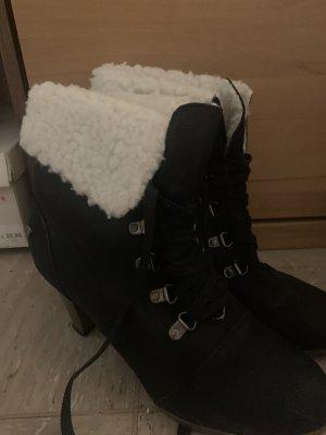 Lucky Shoes Laarzen met bont zwart