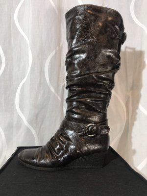 Graceland Slouch Boots dark brown