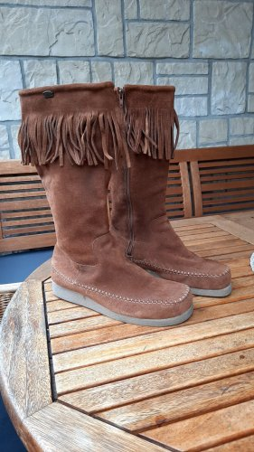 Buffalo Botas estilo militar marrón Cuero