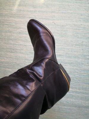 Bottes à talon noir-doré